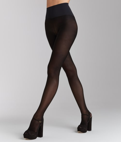 Commando L Black Semi-Opaque Tights