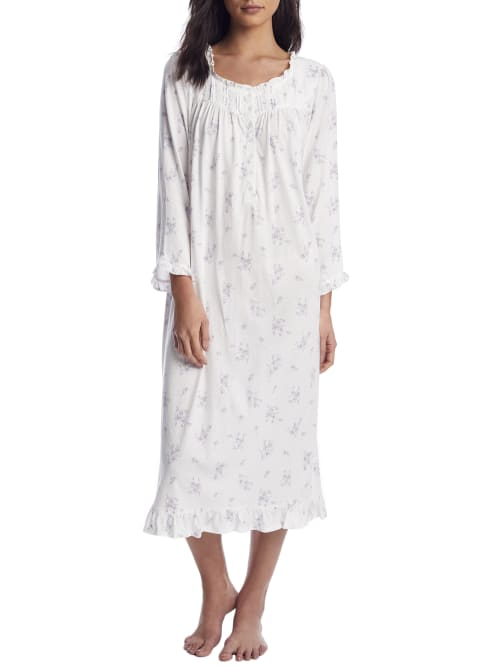 Eileen West COZY COTTAGE FLORAL KNIT NIGHTGOWN