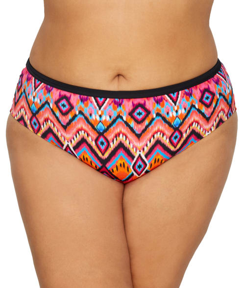 Plus Size Tribe Vibe Mid-Rise Bikini Bottom