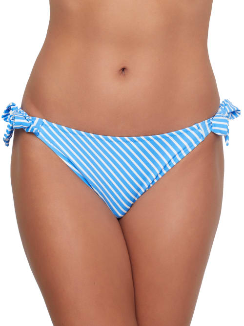 Freya Beach Hut Rio Scarf Side Tie Bikini Bottom In Blue Moon