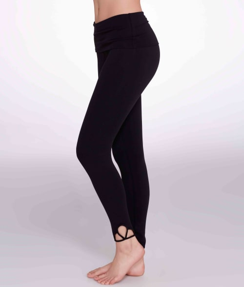 Free People XS Black Moonshadow Rolldown Leggings 93SE110