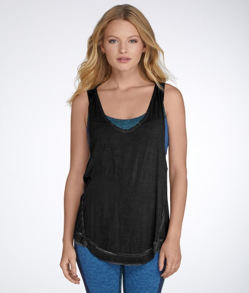 Free People L White Nectarine Tank 942KT40