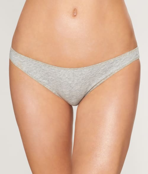 Free People L Grey Some Girls French Bikini 942KH40