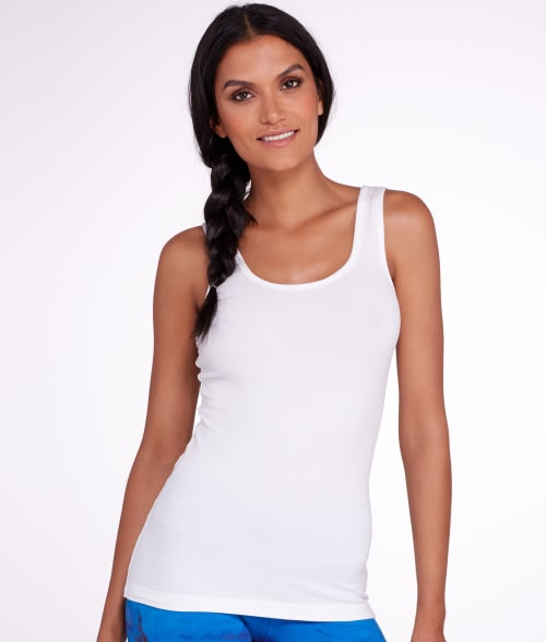 Hard Tail S White Supima Cotton Tank 93LHS20