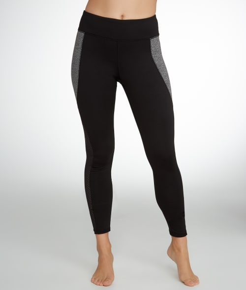 HUE XL Black Mesh Panel Active Leggings 93VJH50