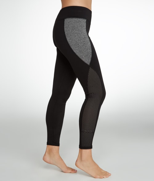 HUE S Black Mesh Panel Active Leggings 93VJH20