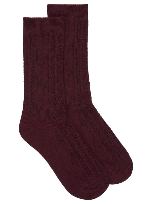 Hue CABLE KNIT BOOT SOCKS