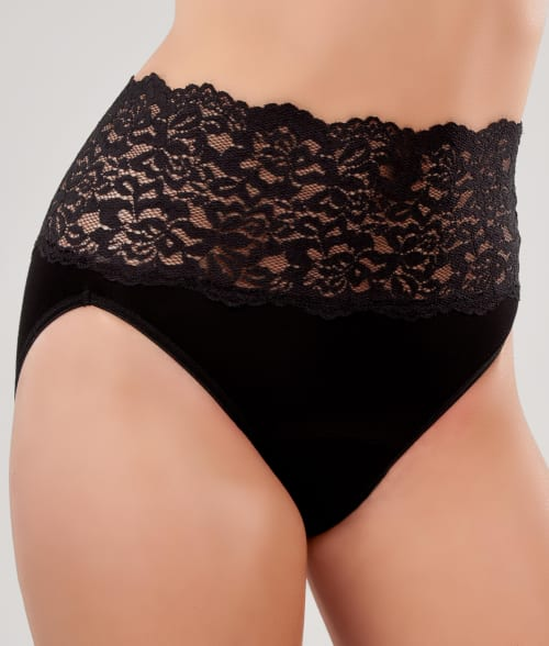 Knock out! S Black Lacy Hi-Cut Brief 92Y3E20