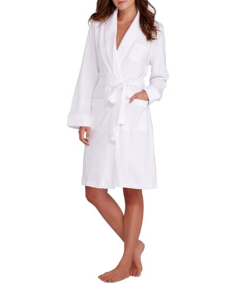 Lauren Ralph Lauren Hartford Lounge Shawl Collar Knit Robe In White
