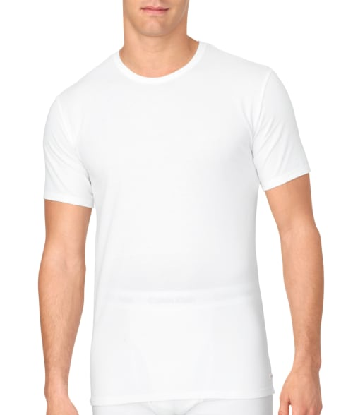 Calvin Klein L White Cotton Stretch T-Shirt 2-Pack 93VZ140