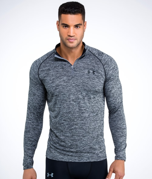 Under Armour L True Grey UA Tech 1/4 Zip T-Shirt 93W9J40