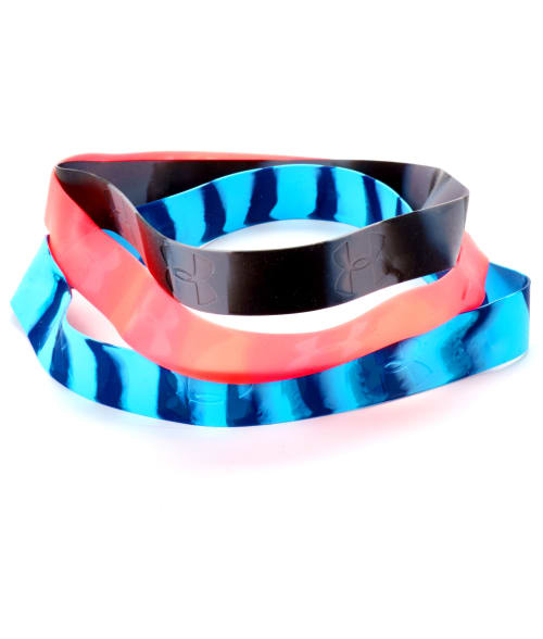 Under Armour One Size Blue / Black / Pink Marble Silicone Headbands 3-Pack 93DX010