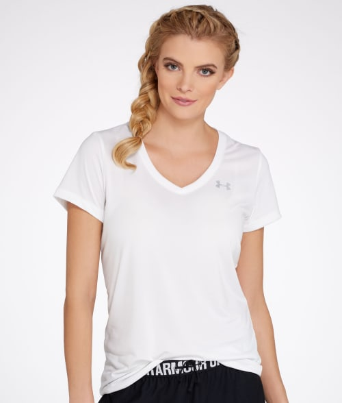 Under Armour L White UA Tech T-Shirt 93PCS40