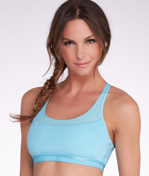 Under Armour XS Sky Blue UA Medium Control Sports Bra 93N7710