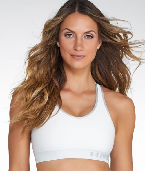 Under Armour S White UA Medium Control Wire-Free Sports Bra 93W6L20