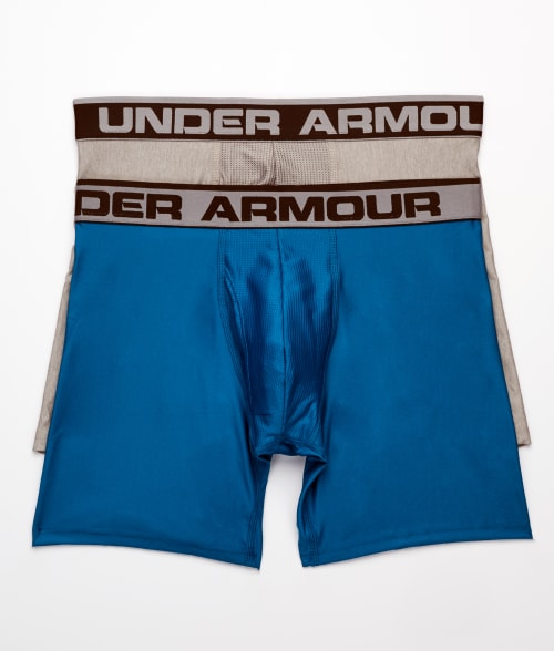 "Under Armour L Black The Original 6"" Boxerjock Boxer Brief 2-Pack 93R7440"