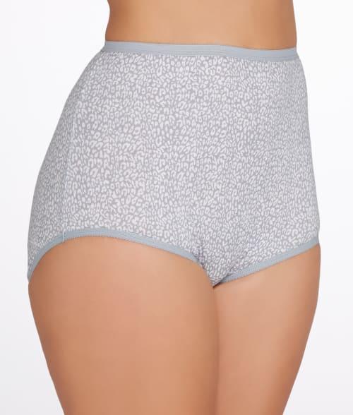 Vanity Fair 8 Star White Tailored Cotton Brief