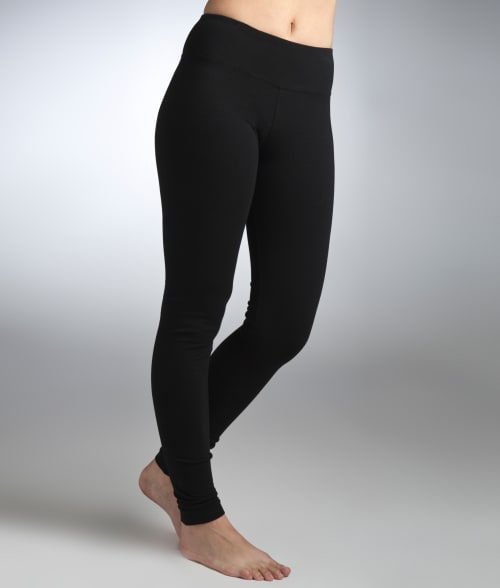 Hard Tail L Black Flat Waist Ankle Yoga Leggings 92IK840