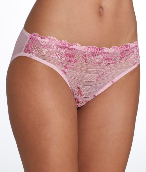 Wacoal SMALL Naturally Nude/Ivory Embrace Lace Bikini 8767320
