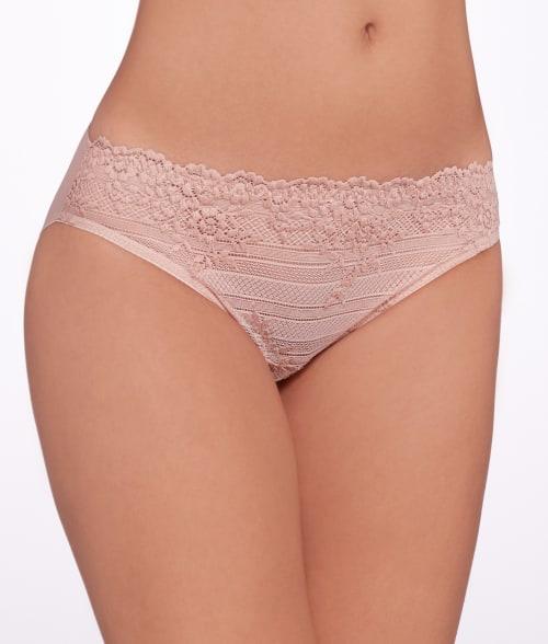 Wacoal X-LARGE Naturally Nude/Ivory Embrace Lace Bikini 8767350