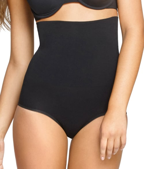 Yummie by Heather Thomson M/L Black Cameo InShapes Firm Control High-Waist Brief 9387L90