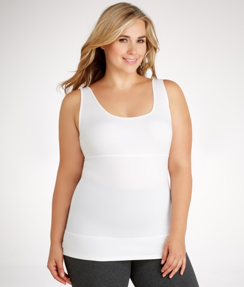 Yummie by Heather Thomson White Pearl Firm Control Tank Top Plus Size