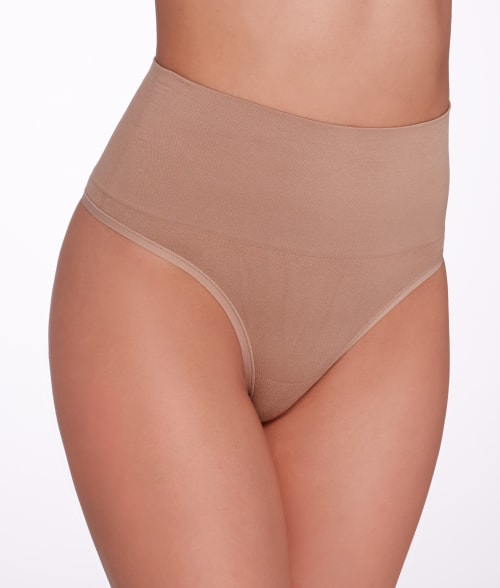 Yummie by Heather Thomson L/XL Heirloom Lilac Jasmina Seamlessly Shaped Everyday Shaping Thong 93RY2A0