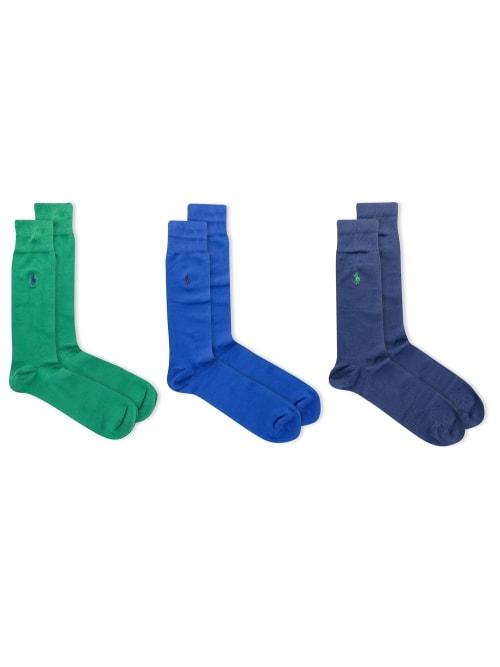 Polo Ralph Lauren Socks SUPER SOFT CREW DRESS SOCKS 3-PACK