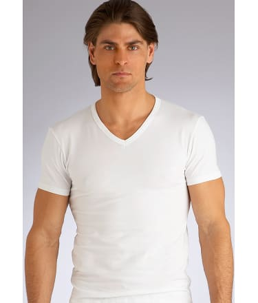 Emporio Armani: Stretch Cotton V-Neck T-Shirt