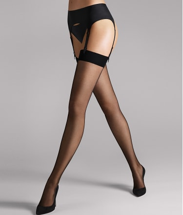 Wolford: Individual 10 Denier Thigh High Stockings