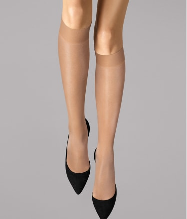 Wolford: Satin Touch 20 Denier Knee Highs