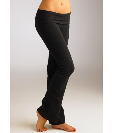 Hard Tail: Rolldown Boot Leg Flare Yoga Pants Plus Size