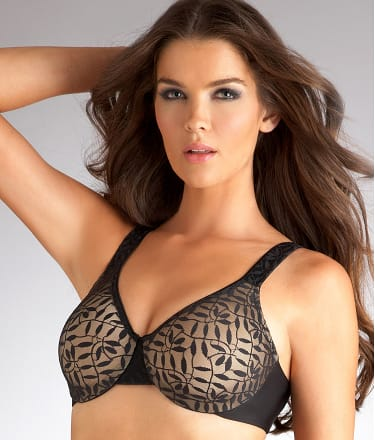 Olga: Sheer Leaves Minimizer Bra