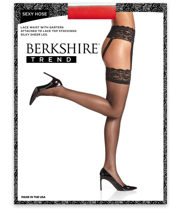 Berkshire: Lace Garter Thigh Highs