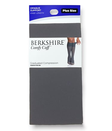 Berkshire: Opaque Graduated Compression Knee Highs Plus Size