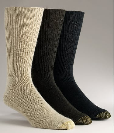Gold Toe: Fluffies Crew Socks 3-Pack Extended Sizes