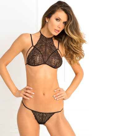 Rene Rofe: Most Wanted Lace Bra and G-String Set
