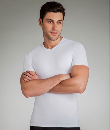 SPANX: Cotton Compression Crew Neck T-Shirt