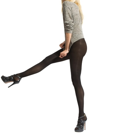 HUE: Essential Solutions Opaque Control Top Tights