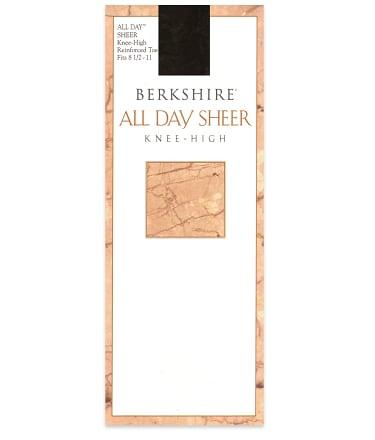 Berkshire All Day Sheer Knee Highs Hosiery 6355 At