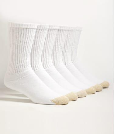 Gold Toe: Crew Sport Socks 6-Pack Extended Sizes