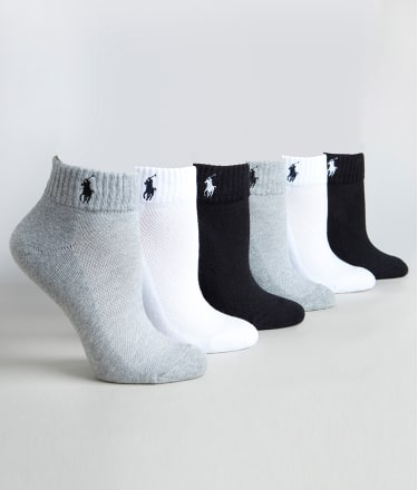 Ralph Lauren: Ankle Sport Socks 6-Pack