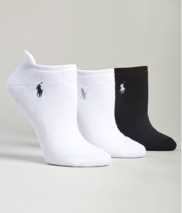 Ralph Lauren: Heel Tab Low-Cut Socks 3-Pack
