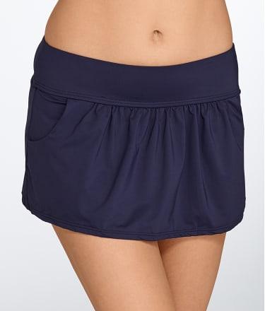 Solid Skirted Bikini Bottom
