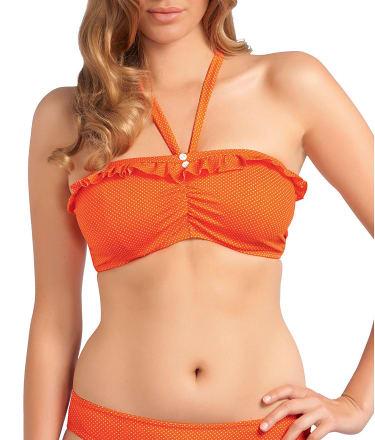 Freya: Cherish Polka Dot Bandeau Bikini Top