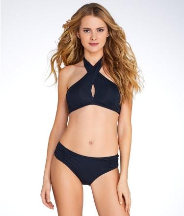 Coco Rave: Solid Shirred Bikini Bottom