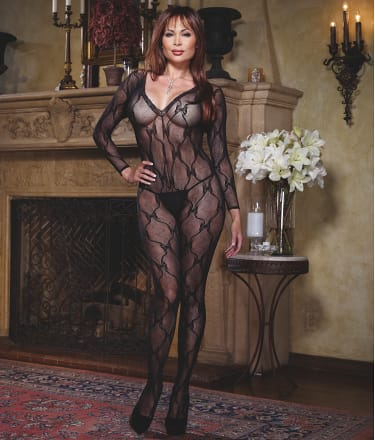 Dreamgirl Plus Size Lace Bodystocking Lingerie 0019x At