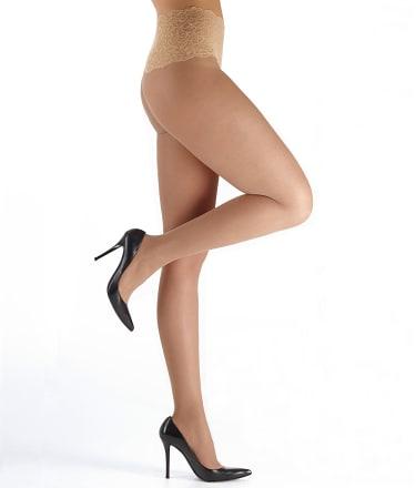 Toe Pantyhose Lined Sheer 118