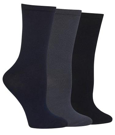 Hot Sox: Solid Crew Socks 3-Pack