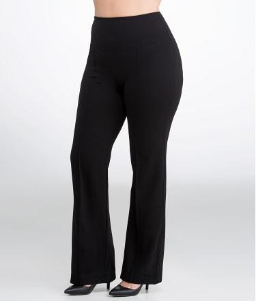 Lyssé: Medium Control Ponte Wide Leg Pants Plus Size